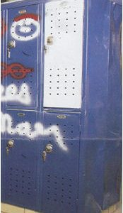 Locker Before - Electrostatic Painting and Metal Refinishing